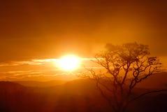 Tramonto africano fotografie stock
