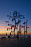Tramonto agli ombrelli Salonicco Fotografie Stock Libere da Diritti