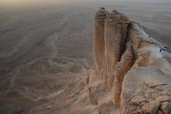 Tramonto al bordo del mondo vicino a Riad in Arabia Saudita immagine stock libera da diritti