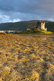 Tramonto al castello di Elian Donan Fotografia Stock