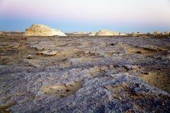 Tramonto al deserto bianco Immagine Stock