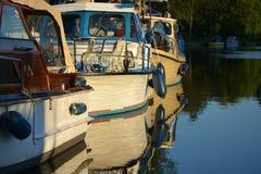 Tramonto al fiume Havel, Germania Fotografia Stock