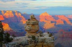 Tramonto al grande canyon Immagini Stock Libere da Diritti