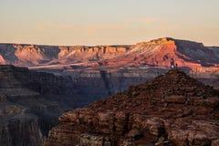 Tramonto al grande canyon Fotografie Stock Libere da Diritti