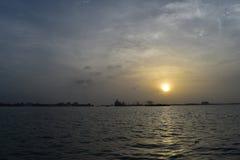 Tramonto al Kochi fotografie stock libere da diritti