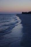 Tramonto al litorale di Sanibel Fotografia Stock