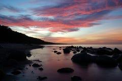 Tramonto al Mar Baltico fotografia stock