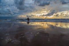 Tramonto al Mar Baltico Fotografie Stock Libere da Diritti