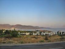 Tramonto al Mar Egeo Fotografia Stock Libera da Diritti