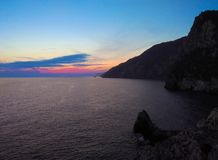 Tramonto al mare Fotografie Stock