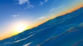 Tramonto al mare Fotografia Stock