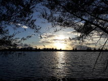 tramonto al mio cantry Fotografie Stock Libere da Diritti