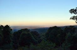 Tramonto al Mt Kiangarow nel parco nazionale di Bunya Fotografia Stock Libera da Diritti