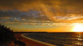 Tramonto al parco nazionale della gamma del capo, Australia occidentale Fotografie Stock Libere da Diritti
