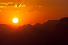 Tramonto al parco nazionale di Grand Canyon Fotografia Stock