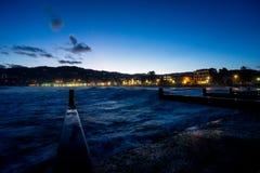 Tramonto al porto marittimo di Diano Marina Liguria Italia Immagini Stock Libere da Diritti