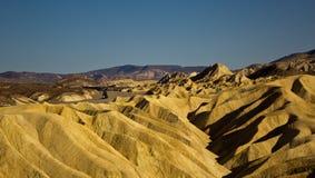 Tramonto al punto di Zabriskie, Death Valley Immagine Stock Libera da Diritti