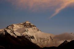 Tramonto all'Everest Fotografia Stock Libera da Diritti