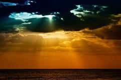 Tramonto all'isola di luna di miele, Florida Fotografia Stock