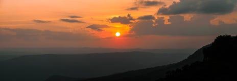 Tramonto alla montagna Immagini Stock Libere da Diritti