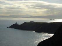 Tramonto alla penisola Howth vicino a Dublino in Irlanda fotografie stock libere da diritti