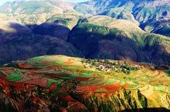 Tramonto alla valle di Luo Xia Fotografia Stock
