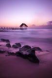 tramonto alle Mauritius Fotografie Stock