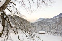 Tramonto alpino II Fotografia Stock