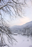 Tramonto alpino VIII Fotografia Stock