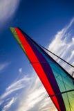 Tramonto & vela sulla spiaggia Fotografia Stock Libera da Diritti