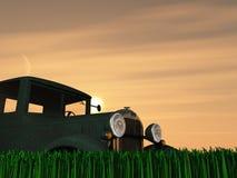 Tramonto antico del camion Immagine Stock