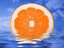 Tramonto arancione Immagine Stock Libera da Diritti