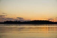Tramonto arancione del cielo fotografia stock libera da diritti