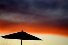 Tramonto astratto dell'ombrello Fotografia Stock Libera da Diritti