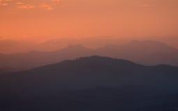 Tramonto australiano della montagna Immagini Stock Libere da Diritti