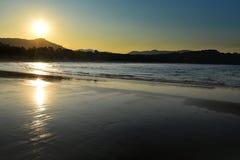 Tramonto australiano della spiaggia degli zappatori della linea costiera Fotografia Stock Libera da Diritti