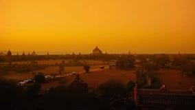 Tramonto in Bagan stock footage