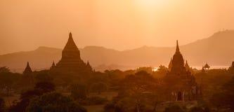 Tramonto in Bagan fotografia stock libera da diritti