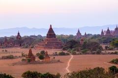 Tramonto in Bagan fotografia stock