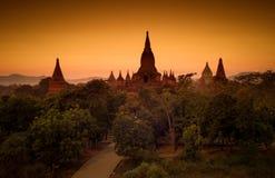 Tramonto in Bagan, Myanmar immagine stock