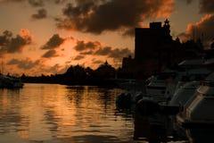 Tramonto in Bahamas Immagine Stock
