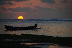 Tramonto in Bali Fotografia Stock