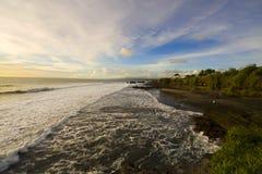 Tramonto a Bali, oceano Fotografia Stock