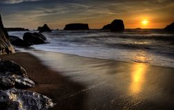 Tramonto Bandon Oregon Fotografie Stock