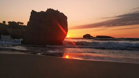 Tramonto a Biarritz fotografia stock libera da diritti