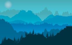 Tramonto blu Immagini Stock