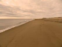 Tramonto caldo della molla su Plum Island, Massachusetts Fotografia Stock Libera da Diritti
