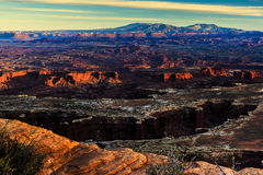Tramonto a Canyonlands Immagine Stock