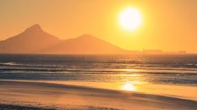 Tramonto a Cape Town Fotografie Stock