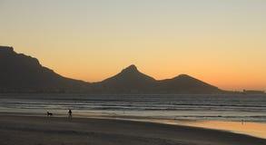 Tramonto a Cape Town Immagine Stock
